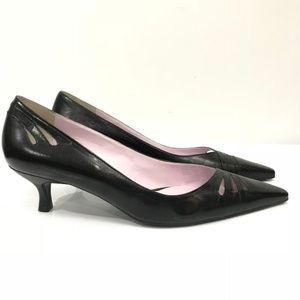 Gianni Bini Shoes - Gianni Bini black leather kitten heels